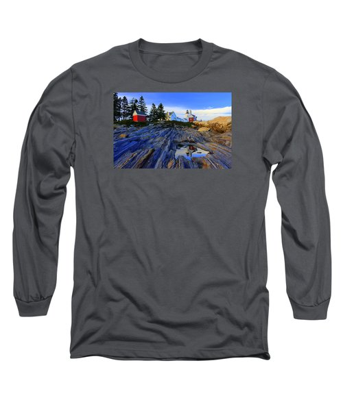 Pemaquid Point Light Reflections Long Sleeve T-Shirt
