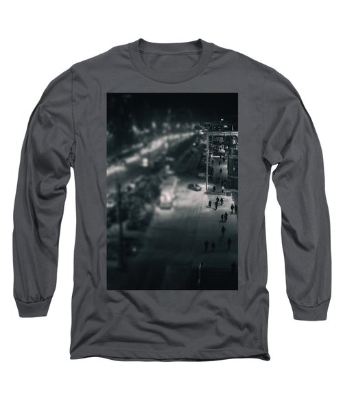 People At Night From Arerial View Long Sleeve T-Shirt