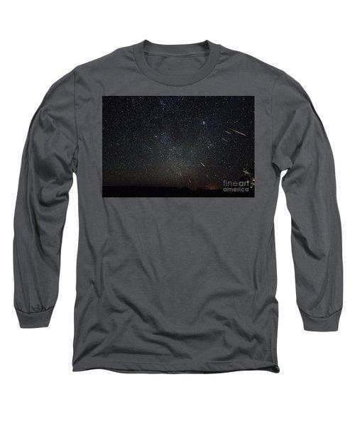 Perseid Meteor Shower Long Sleeve T-Shirt