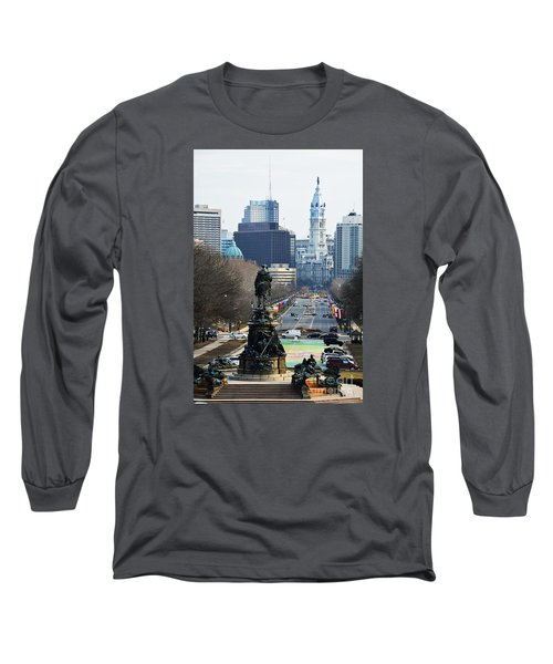 Philadelphia - The Parkway Long Sleeve T-Shirt by Cindy Manero