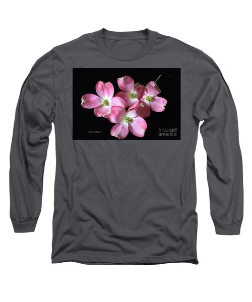 Pink Dogwood Branch Long Sleeve T-Shirt by Jeannie Rhode