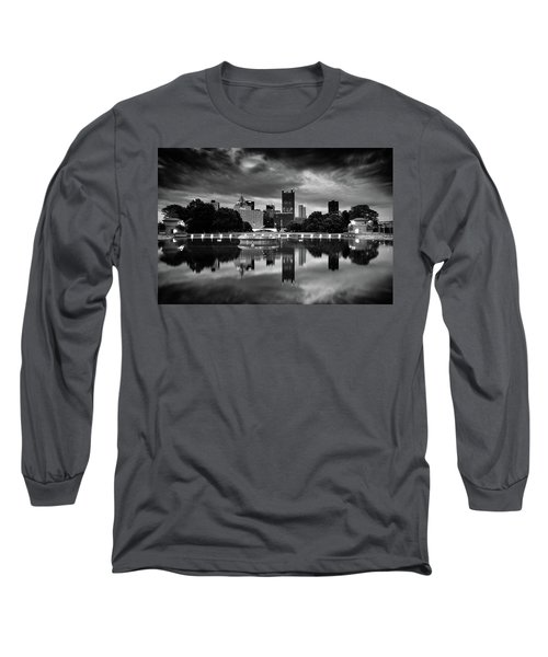 Pittsburgh  Reflections  Long Sleeve T-Shirt by Emmanuel Panagiotakis