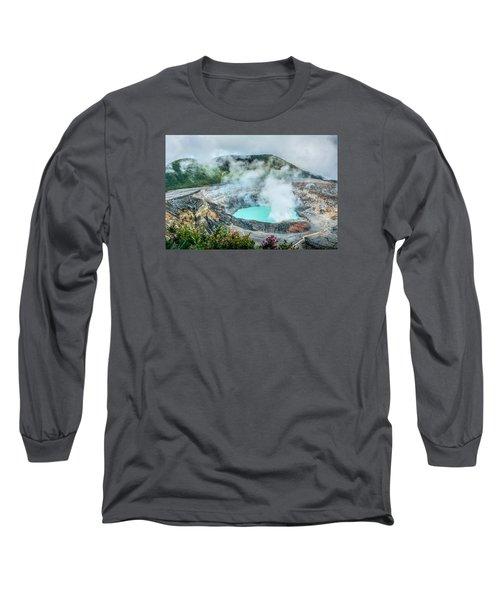Poas Volcano, Costa Rica Long Sleeve T-Shirt