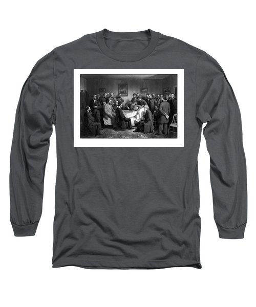 President Lincoln's Deathbed Long Sleeve T-Shirt
