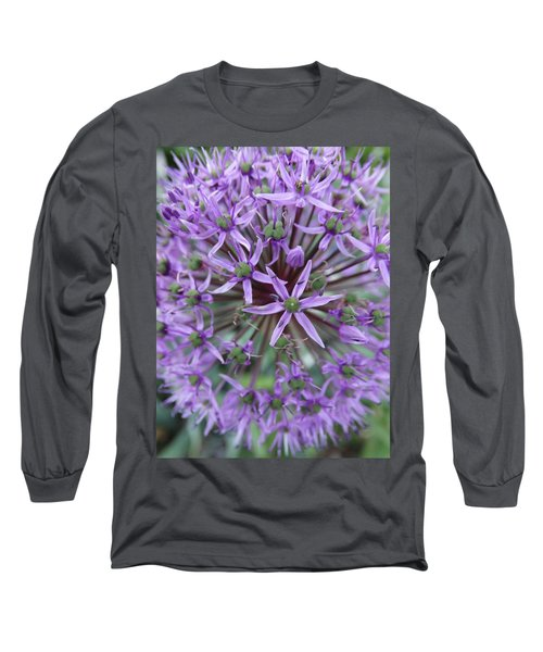Purple Allium Burst Long Sleeve T-Shirt