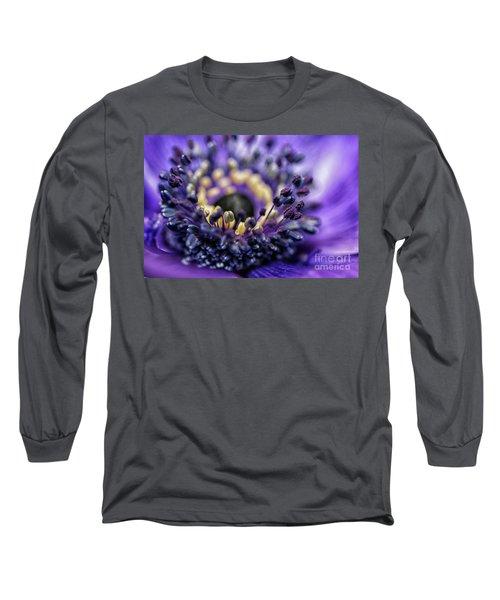 Purple Heart Of A Flower Long Sleeve T-Shirt