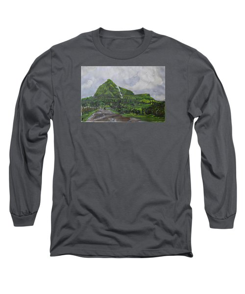 Long Sleeve T-Shirt featuring the painting Visapur Fort by Vikram Singh