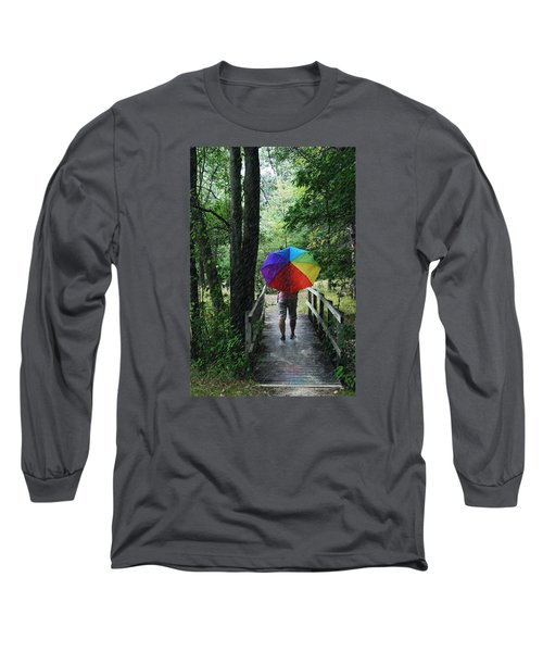 Long Sleeve T-Shirt featuring the photograph Rainy Day by Judy  Johnson