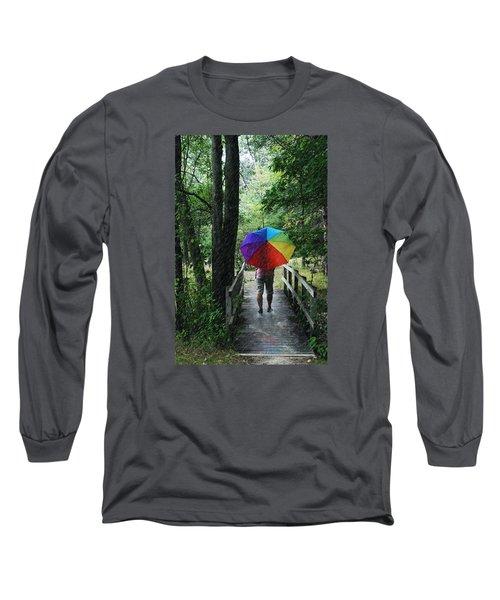 Rainy Day Long Sleeve T-Shirt by Judy  Johnson