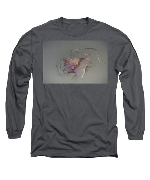 Reclining Study Long Sleeve T-Shirt