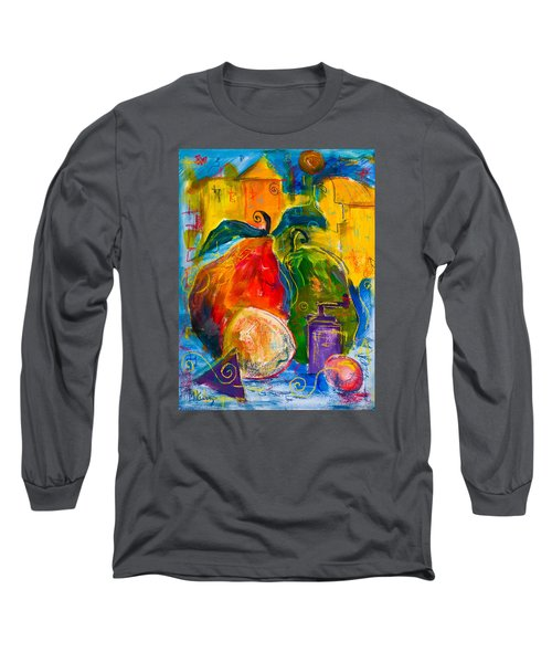 Red And Green Pears Long Sleeve T-Shirt by Maxim Komissarchik