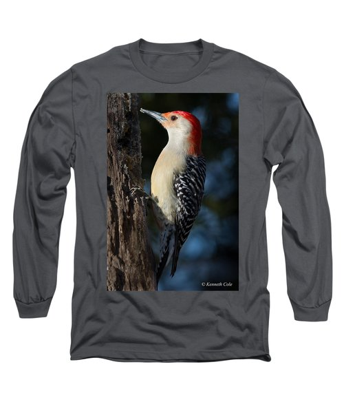 Red-bellied Woodpecker 3a Long Sleeve T-Shirt by Kenneth Cole