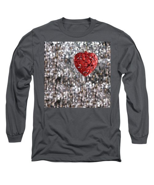 Long Sleeve T-Shirt featuring the photograph Red Heart by Ulrich Schade