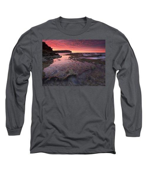 Red Sky At Morning Long Sleeve T-Shirt