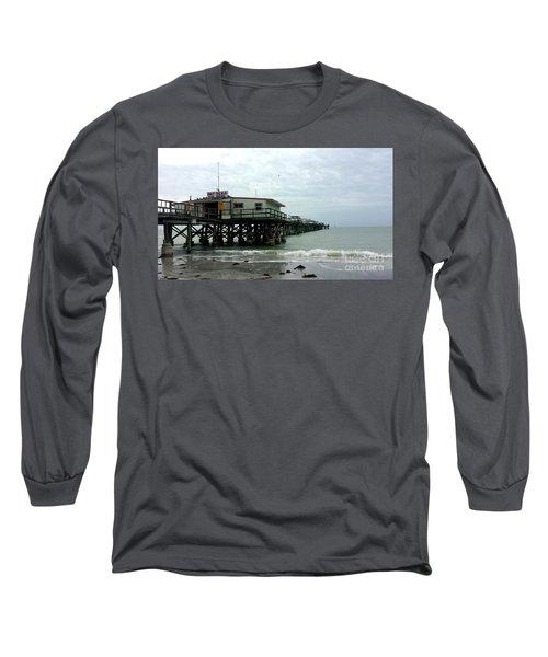 Redington Beach, Florida Fishing Pier Long Sleeve T-Shirt by Scott D Van Osdol