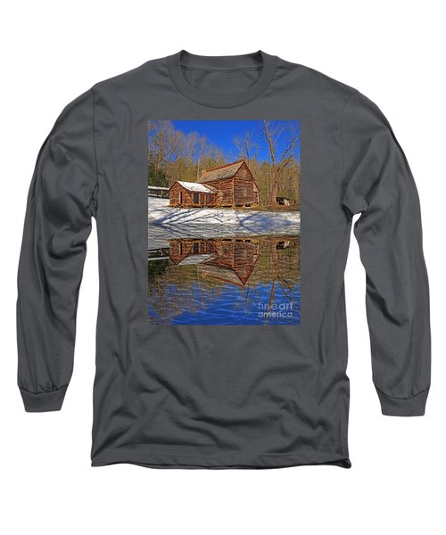 Long Sleeve T-Shirt featuring the photograph Reflections by Geraldine DeBoer