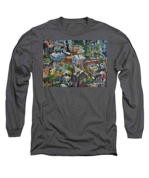 Richmond Virginia Cityscape Painting Long Sleeve T-Shirt by Robert Joyner