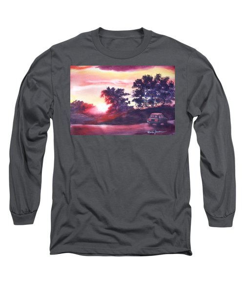 Road To Fargo Long Sleeve T-Shirt by Marilyn Jacobson