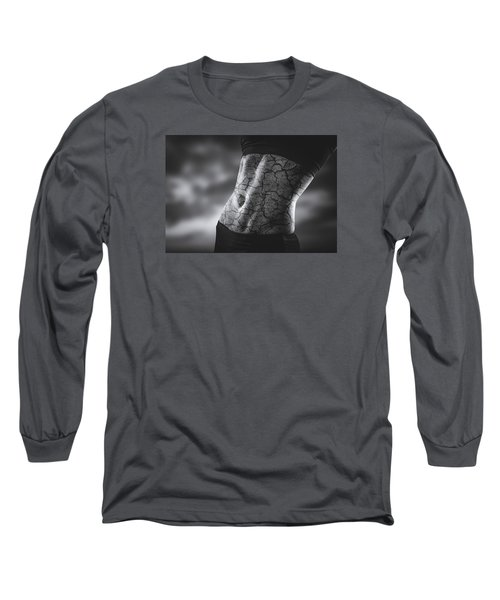Rock Solid Abs Long Sleeve T-Shirt by Scott Meyer