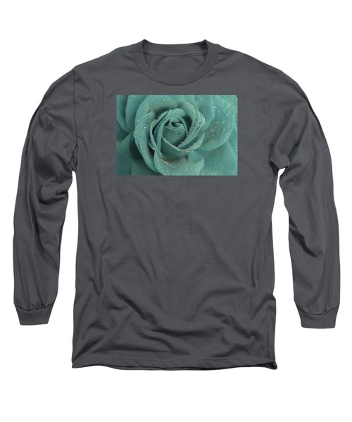 Long Sleeve T-Shirt featuring the photograph Rose Of Rain by The Art Of Marilyn Ridoutt-Greene