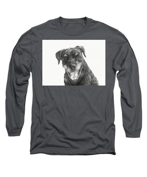 Long Sleeve T-Shirt featuring the drawing Ruby  by Meagan  Visser