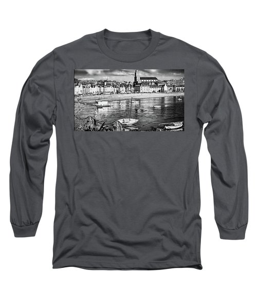 Long Sleeve T-Shirt featuring the photograph Saint Servan Anse by Elf Evans