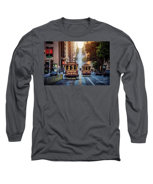 San Francisco Cable Cars Long Sleeve T-Shirt by JR Photography