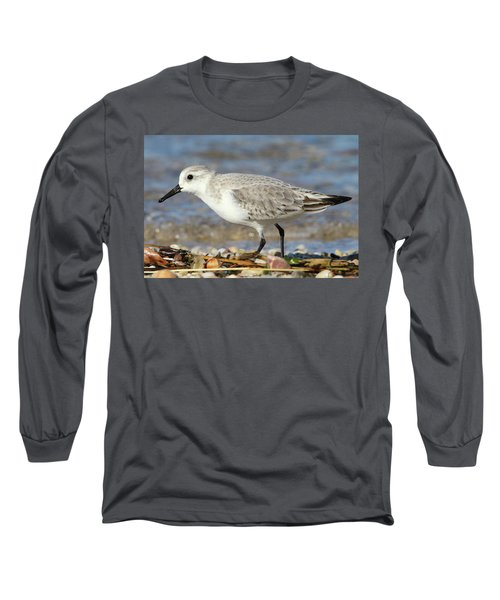 Sanderling Westhampton New York Long Sleeve T-Shirt by Bob Savage