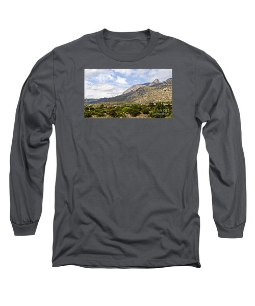 Long Sleeve T-Shirt featuring the photograph Sandia Mountains by Gina Savage