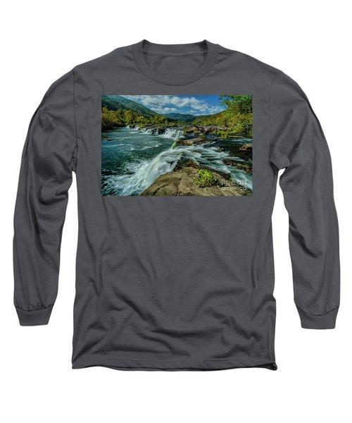 Sandstone Falls New River Long Sleeve T-Shirt