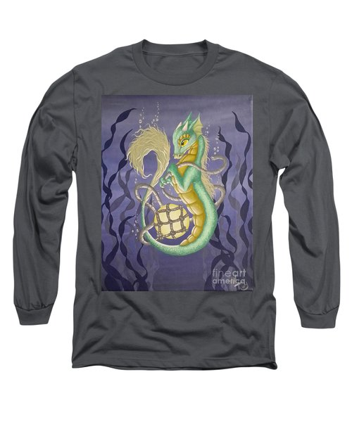 Long Sleeve T-Shirt featuring the painting Sea Dragon II by Mary Hoy