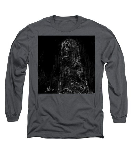 Seated Nude Long Sleeve T-Shirt by Jim Vance
