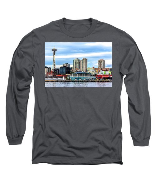 Seattle Skyline Hdr Long Sleeve T-Shirt