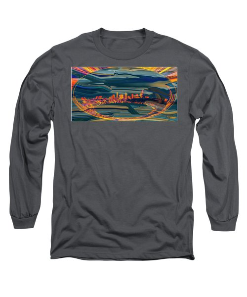 Seattle Swirl Long Sleeve T-Shirt by Dale Stillman