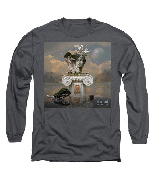 Long Sleeve T-Shirt featuring the digital art Secret Place Of Atlantis by Alexa Szlavics