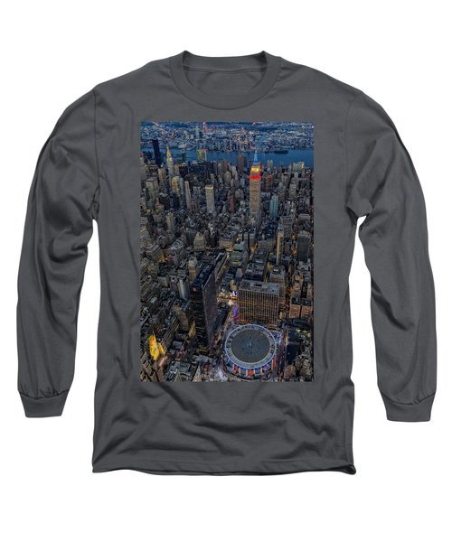 Long Sleeve T-Shirt featuring the photograph September 11 Nyc Tribute by Susan Candelario