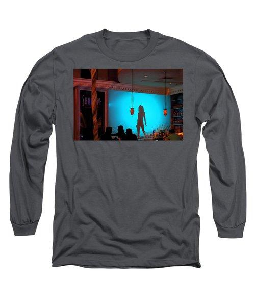 Shadow On The Wall Long Sleeve T-Shirt by Viktor Savchenko