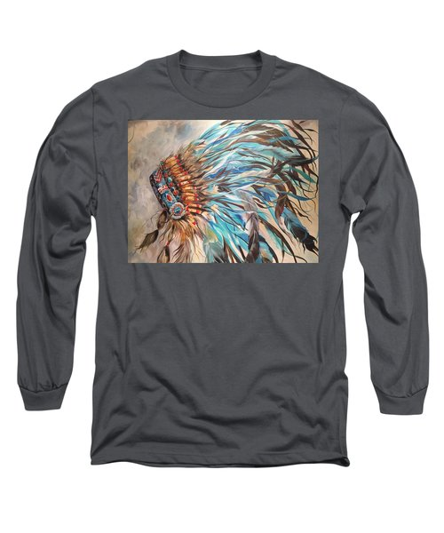 Sky Feather Long Sleeve T-Shirt by Heather Roddy