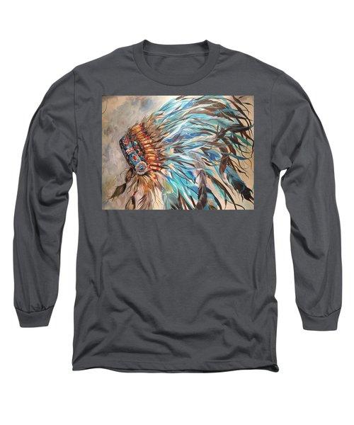 Sky Feather Long Sleeve T-Shirt