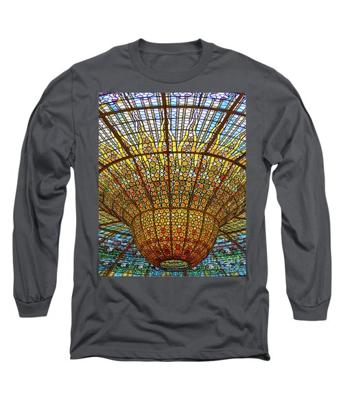 Skylight In Palace Of Catalan Music  Long Sleeve T-Shirt