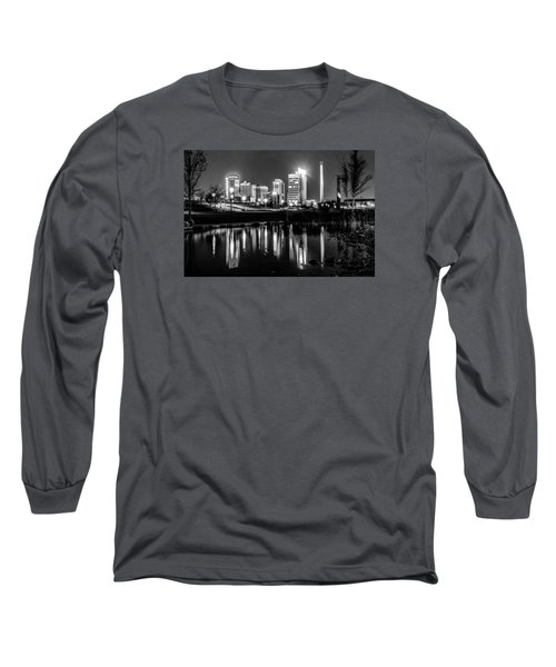 Skyline Of Birmingham Alabama From Railroad Park Long Sleeve T-Shirt by Alex Grichenko