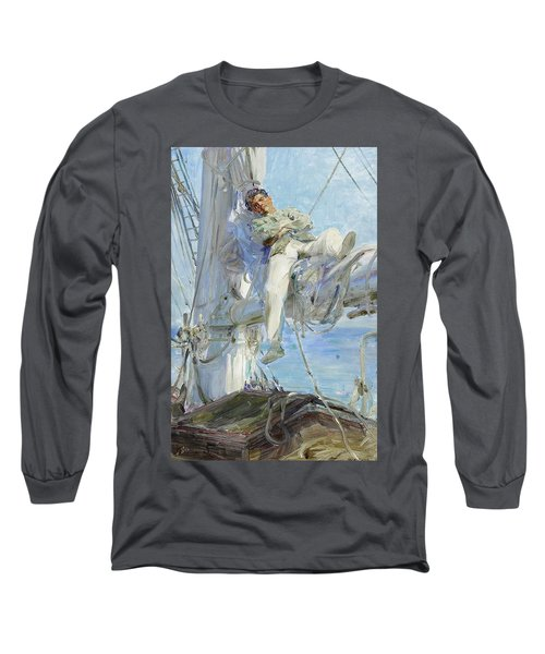 Sleeping Sailor Long Sleeve T-Shirt