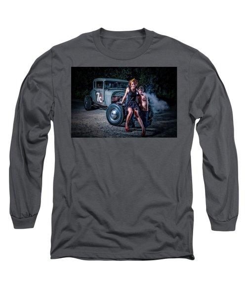 Smoke Long Sleeve T-Shirt by Jerry Golab