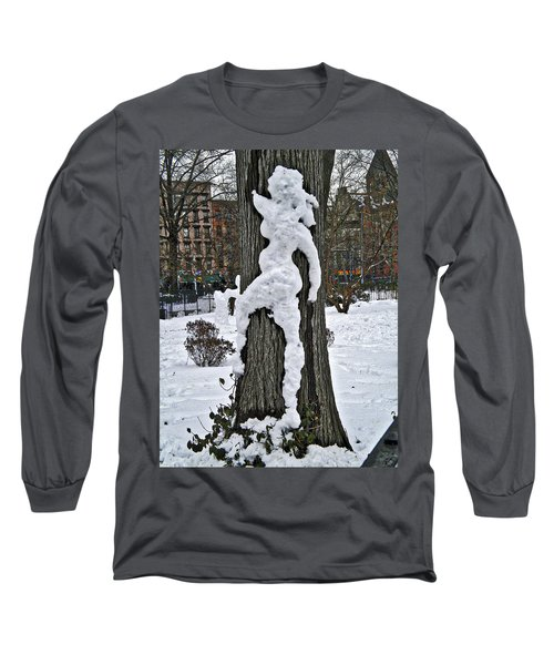 Long Sleeve T-Shirt featuring the photograph Snow Lady by Joan Reese