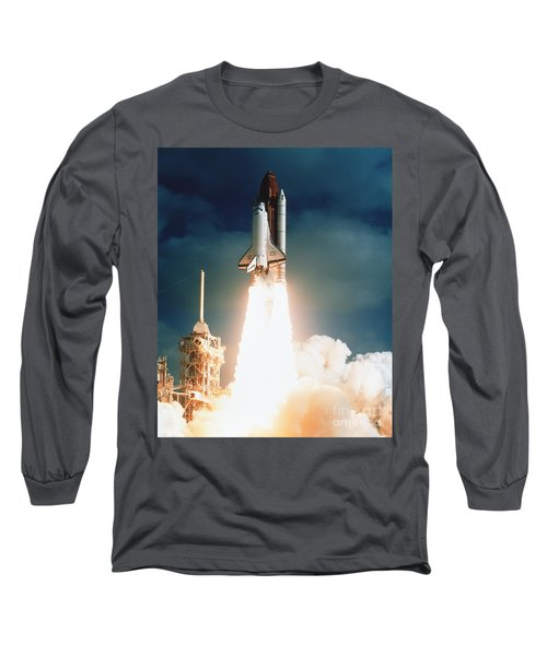 Space Shuttle Launch Long Sleeve T-Shirt