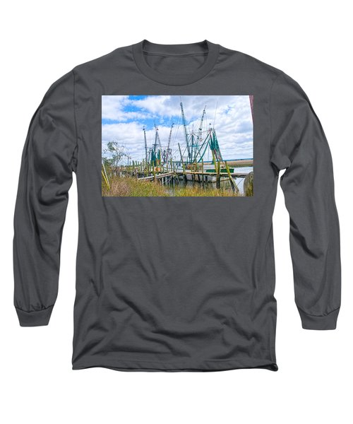 St. Helena Shrimp Boats  Long Sleeve T-Shirt