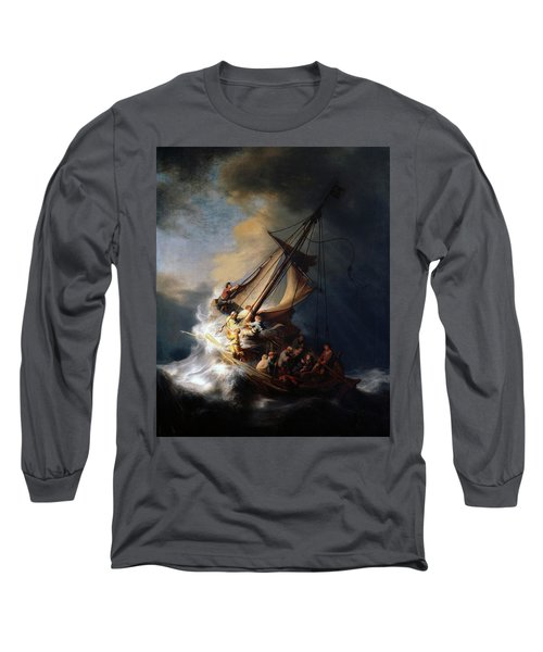Storm On The Sea Of Galilee Long Sleeve T-Shirt