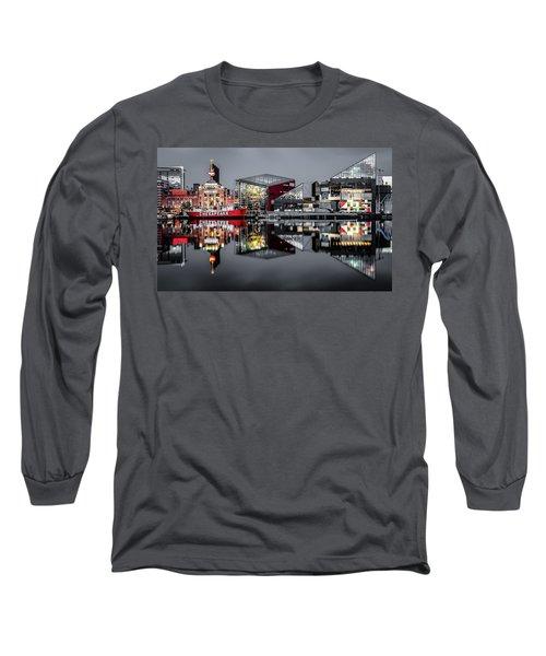 Stormy Night In Baltimore Long Sleeve T-Shirt by Wayne King