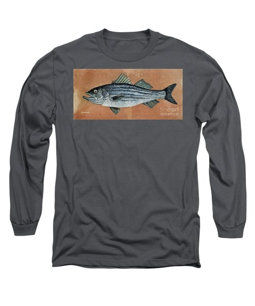 Long Sleeve T-Shirt featuring the painting Striper by Andrew Drozdowicz