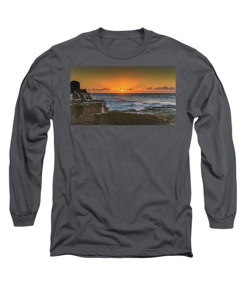 Sun Rising Over The Sea Long Sleeve T-Shirt